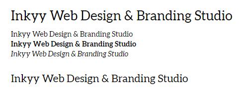 Aleo - Beautiful Fonts for Web Design - Inkyy Web Desing Studio
