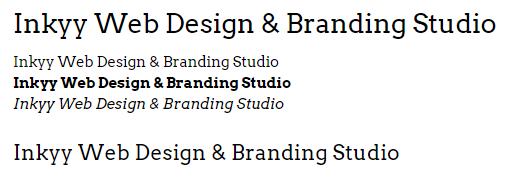 Arvo - Beautiful Fonts for Web Design - Inkyy Web Desing Studio