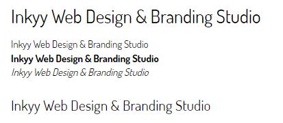Dosis - Beautiful Fonts for Web Design - Inkyy Web Desing Studio