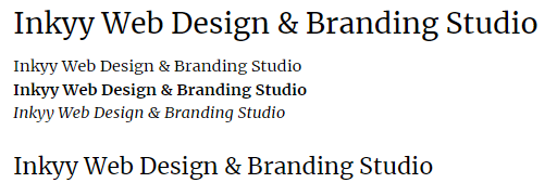 Merriweather - Beautiful Fonts for Web Design - Inkyy Web Desing Studio