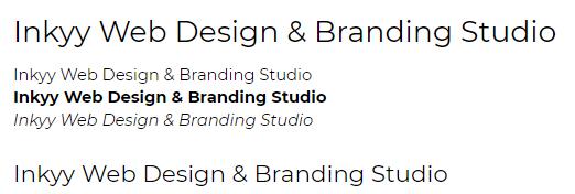 Montserrat - Beautiful Fonts for Web Design - Inkyy Web Desing Studio