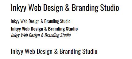Oswald - Beautiful Fonts for Web Design - Inkyy Web Desing Studio