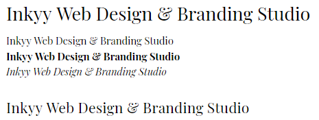 Playfair Display - Beautiful Fonts for Web Design - Inkyy Web Desing Studio