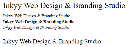 Times New Roman - Beautiful Fonts for Web Design - Inkyy Web Desing Studio