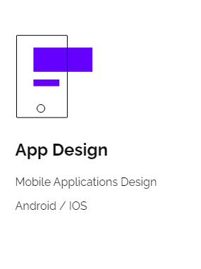 One of Website Services - App Design By Inkyy Design Studio