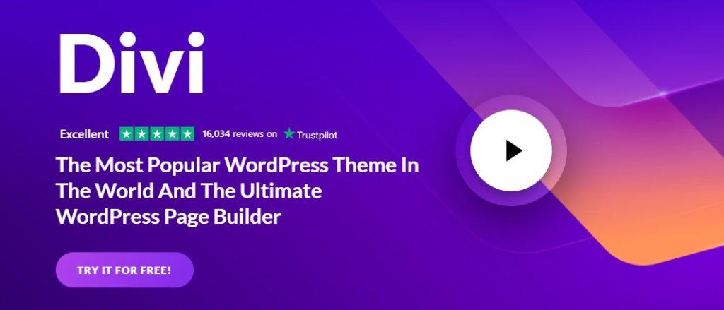 Divi a Part of Inkyys Blog List of  WordPress Themes