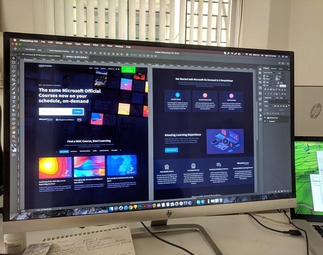 Security Company Web Design - Photoshop on Monitor - Inkyy Web Design Blog - Photo by Eftakher Alam on Unsplash