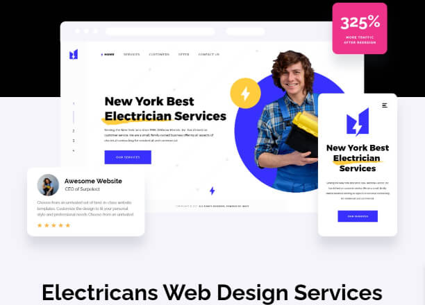 Inkyy Web Design For Electricians - Elements for Logos For Electrical Business by Inkyy