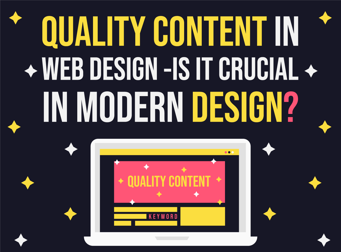 Quality content in web design is crucial for modern design and Inkyy Design Studio will help you with it