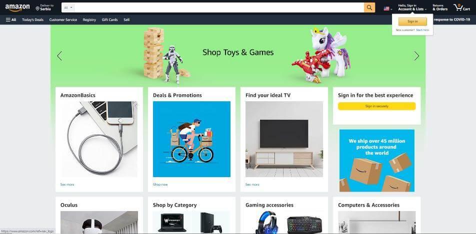 Ecommerce Personalization - Amazon website - Inkyy Blog