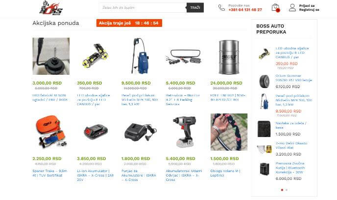 ecommerce Personalization - Boss Auto Ecommerce website - Inkyy Blog