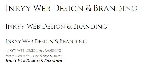5 Fonts of the Week by Inkyy Web Design & Branding Team - Cinzel