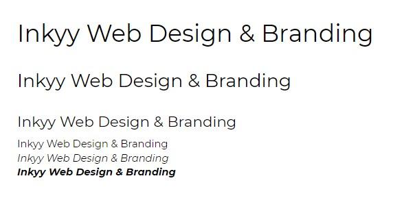 5 Fonts of the Week by Inkyy Web Design & Branding Team - Monserat